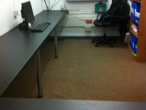 Photo - Replacement single piece office desk / workspace installed for Asda store in Accrington