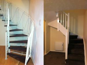 Replacement Staircase - Removal of an existing spiral staircase and installation of a wooden one, including understairs storage for a Penworthan home